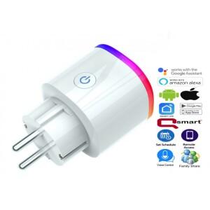 priza-inteligenta-qsmart-16a-3840w-wi-fi-amazon-alexa-si-google-home-ios-android-control-vocal-ambient-led